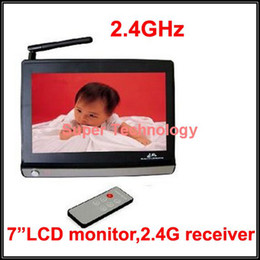 Discount tv channels receiver - Wholesale- 2.4G receiver TV out display 7 inch LCD Monitor 2.4G Wireless Receiver,CCTV Camera,CCTV receiver,baby monitor