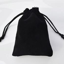 Wholesale Velvet Case Jewelry Holder - Wholesale-30cmx20cm Large Black Velvet Gift Bag Hair Jewelry Packaging Case Bottle Holder Fashion Pouches