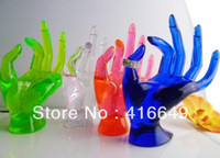 Wholesale Wholesale Jewelry Mannequins - Wholesale-free shipping Shop Mannequin OK Hand Gloves Display Jewelry Ring Bracelet Necklace Holder Stand 4 color jewelry display