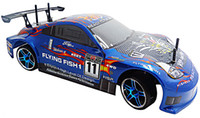 Wholesale Electric Power Car Remote Control - Wholesale-HSP Rc Drift Car 4wd 1 10 Electric Power On Road Drifting Racing FlyingFish Remote Control Toys Ready To Run High Speed Rc Car