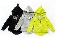 Wholesale Girls Long Outerwear Jackets - Wholesale-Autumn 2015 new dinosaur hoodies jackets kids, boys and girls jacket outerwear baby sweaters winter long sleeve spring