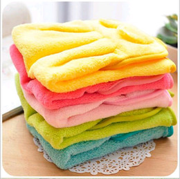 Wholesale Thick Kitchen Towels - Wholesale-Free shipping Creative cute candy colored thick dry hand towel cartoon super-absorbent kitchen towel hanging towel rub wholesale