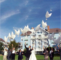 Wholesale Wholesale Helium Fly - Wholesale-Pigeon Dove balloon for lover helium pigeon baloon eco-friendly foil baloes for flying thanksgiving parties 50pcs lot