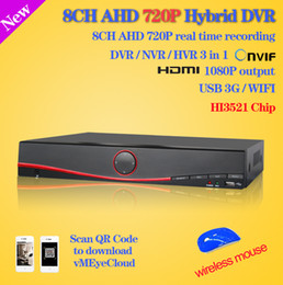 8ch Dvr Hd Canada - Wholesale-HD CCTV security 8 channel 3g DVR video recorder HDMI 1080P AHD 720P 960H 8ch real time Recording Hybrid DVR NVR for ip camera