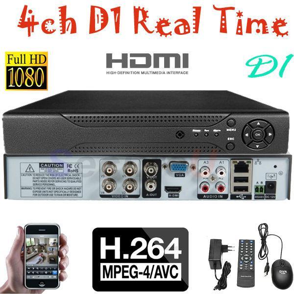 Visione telecomandata del video registratore digitale della rete di sicurezza HDMI di alta qualità di trasporto all'ingrosso-Libero di migliore qualità H.264 4ch HD D1