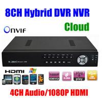 ip dvr 8ch toptan satış-IP kamera için Toptan-CCTV 8CH HD 960h H.264 DVR Ağ hibrid DVR Video Kaydedici SDVR / HVR / NVR 8 Kanal Güvenlik Sistemi 1080P HDMI