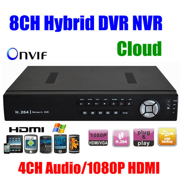 Wholesale-CCTV 8CH HD 960h H.264 DVR Network hybrid DVR Video Recorder SDVR/HVR/NVR 8 Channel Security System 1080P HDMI for ip camera