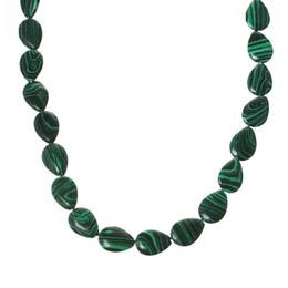 Wholesale Green Malachite Gem - B37718 (Grade A)Natural Malachite gem stone Loose Beads Teardrop Green 18mm x 13mm,38.5cm long,1 Strand(approx 22PCs)