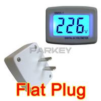 Wholesale Voltmeter Digital For Pc - Wholesale-20 PCS LOT 80-300V LCD Voltmeter AC Switch Plug 110V 220V for Household, Factory, Office, Laboratory Digital Voltmeter #200538