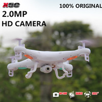 Wholesale Electric Rc Helicopters Rtf - Wholesale-Original SYMA X5C 2.4G 4CH 6-Axis 2.0MP HD Camera RTF Remote Control Quadcopter RC Helicopter Toys Professional Dron