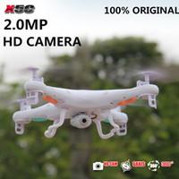 Wholesale Remote Helicopter Toy Camera - Wholesale-Original SYMA X5C 2.4G 4CH 6-Axis 2.0MP HD Camera RTF Remote Control Quadcopter RC Helicopter Toys Professional Dron