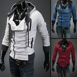 Desmond Miles Costume De Cosplay Pas Cher-Gros-2015 élégant Hommes Assassins Creed 3 Desmond Miles Costume Hoodie Cosplay Coat Jacket