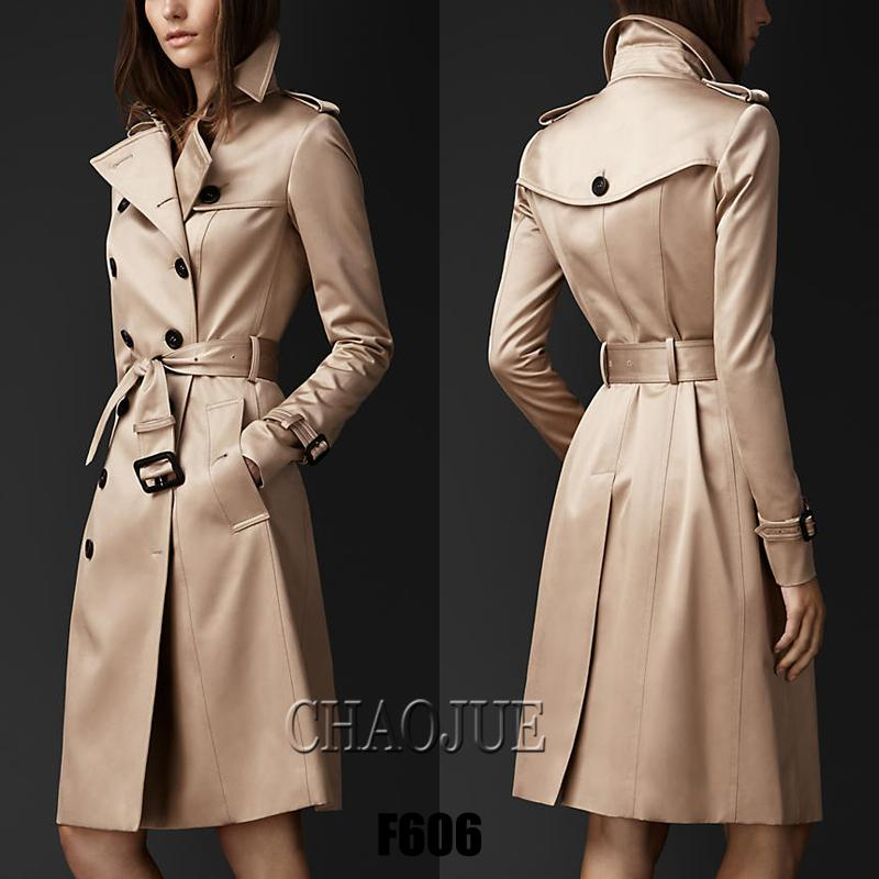 32d2e7272e0 2019 Wholesale S 3XL QUALITY British Style Women 2015 Autumn Runway Long  Trench Coat Plus Size Double Breasted Elegant Slim Winter Windbreaker From  ...
