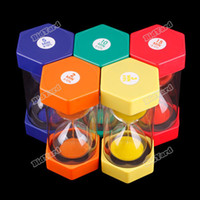 Wholesale Toy Hourglass Sand Timer - Wholesale-bestChoise 2 3 5 10 15 Minutes Mini Hourglass Sandglass Cooking Color Toys Sand Clock Timer[Orange] [Worldwide free shipping]