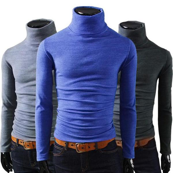 Оптовая Продажа-Новое Прибытие ! 2015 мужчины зима Водолазка пуловер тепловой свитер многоцветный вариант твердые дизайн мягкий и теплый бесплатная доставка