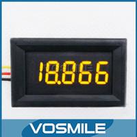 Wholesale Volt Digital Motor - Wholesale- 0-33.000V DC Digital Voltmeter 5 Digit Yellow LED Display Panel Meter 3 Wires Volt Meter for Car Motor Voltage Monitor#201027