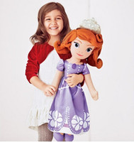 Wholesale First Month - Wholesale-Free shipping 70 cm and 50 cm plush toy doll Princess Sofia Princess Sofia first plush toy doll soft plush toy doll girl