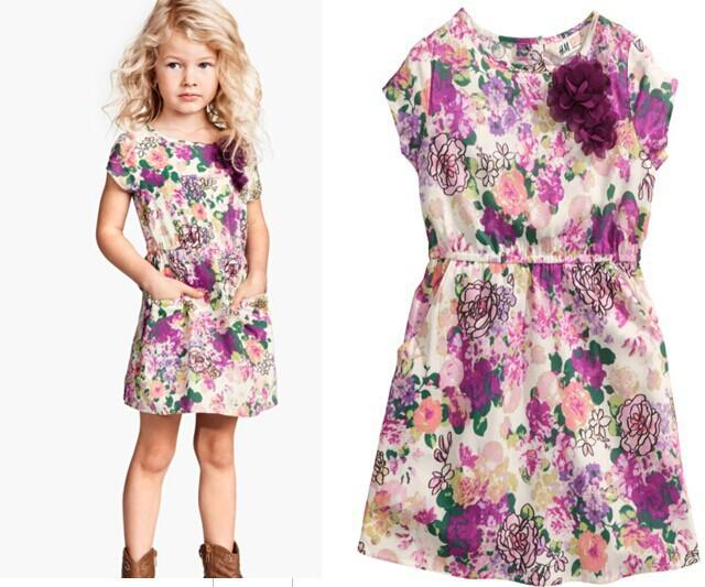 2017 Wholesale Western Style Girls Summer Dresses Children'S ...