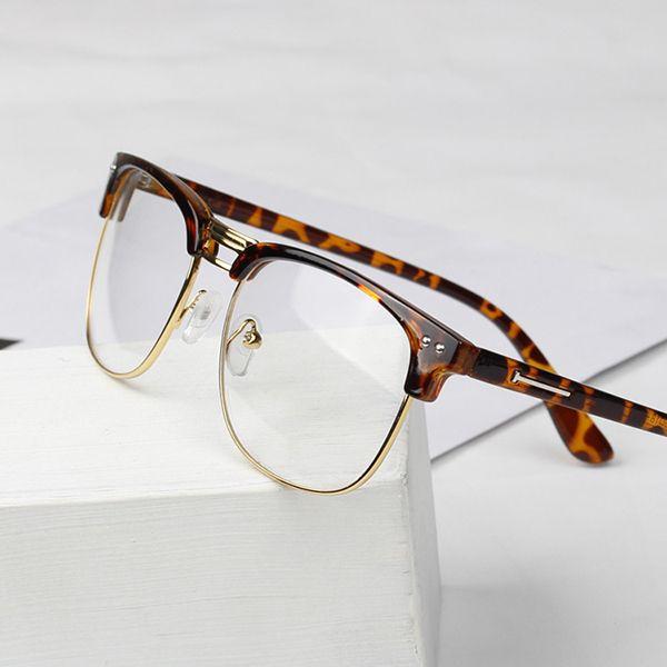 0cb9b4219a1 2019 Glasses Frame Fashion Men Women Clear Lens Eyeglasses Half Frame  Glasses Nerd Eyewear From Fashionkiss