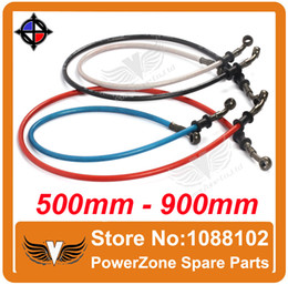 Wholesale dirt bike tubes - Wholesale-500mm To 900mm Motorcycle Hydraulic Reinforced Brake Or Clutch Oil Hose Line Tube Pipe Fit Dirt Pit Bike ATV Quad Buggy