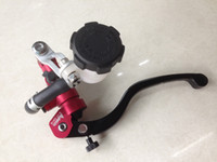 "Wholesale front brake reservoir - Wholesale-ADELIN Red&Black 7 8"" 17.5 x 18 mm Hydraulic Front Clutch Master Cylinder 600cc-1000cc Remote Reservoir Adjustable Lever"