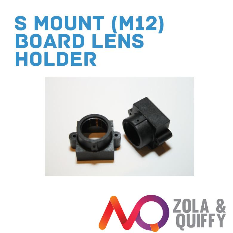 S Mount (M12) Board Lens Holder - 21mm hole spacing for Raspberry PI Cameras