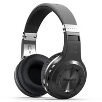 Wholesale Headphones Built Radio - Wholesale-Bluedio H+(Turbine) Bluetooth Stereo Wireless headphones Built-in Mic Micro-SD FM Radio BT4.1 Over-ear headphones(Black)