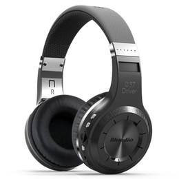 Discount micro headphones wireless - Wholesale-Bluedio H+(Turbine) Bluetooth Stereo Wireless headphones Built-in Mic Micro-SD FM Radio BT4.1 Over-ear headpho