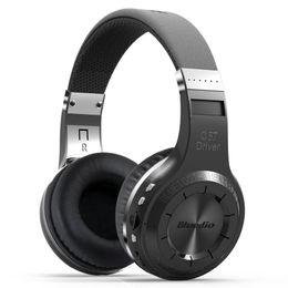 Argentina Al por mayor-Bluedio H + (Turbina) Bluetooth Estéreo Auriculares inalámbricos Micrófono incorporado Micro-SD / FM Radio BT4.1 Auriculares para colocar sobre la oreja (Negro) supplier turbines headphones Suministro