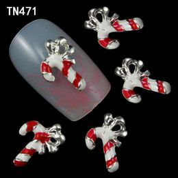 Christmas Gift Nails Australia - Wholesale-20pcs Merry Christmas Crutches of Santa Claus 3D Decorations for Nail Art Glitters Rhinestones Jewelry Charms Nails Gift TN471