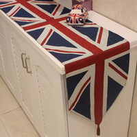 Gros-1 pc Style Britannique L'UNION JACK chemins de table maison de décoration design jacquard dinning napperons 33 x 145 cm