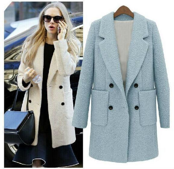 2017 Wholesale Fashion 2015 Winter Coat Women Female Warm Woollen ...