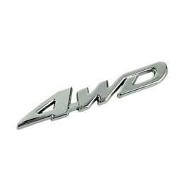4wd new car en Ligne-Wholesale-Essential 2015 New Car Métal Chrome 4WD Cylindrée Emblem Badge All Wheel Drive Sticker Auto