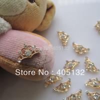 Wholesale 3d Nail Art Deco - Wholesale-MD-595 3D 50pcs bag Nail Decoration Metal Gold Deco Metal Nail Art Decoration