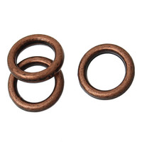 Wholesale Antique Copper Jump Rings - B55981 Closed Soldered Jump Rings Circle Ring Antique Copper 6mm Dia, 1500 PCs 2015 new