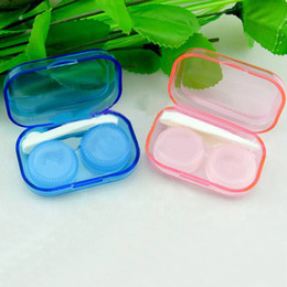 Lentilles De Contact De Mode En Gros Pas Cher-Holder Case Contact Lens Box Container Transparent gros 1PCS-Fashion Vision Tool Set