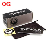 Wholesale set Dragon brand original package box Glasses Cases Soft Bag Stickers