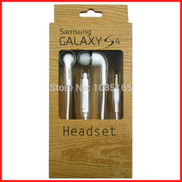 Wholesale Galaxy S3 Original Box - Wholesale-Original OEM Samsung Stereo Earphones Headset headphone for Galaxy S5 S4 S3 with package box-wholesales