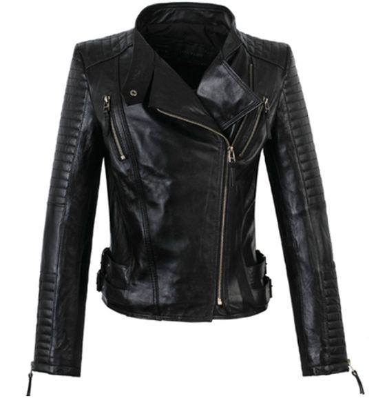 top popular Wholesale-America new long-sleeved street woman jackets motorbike 100% genuine sheepskin leather jacket womens high quality coat S - 3XL 2020