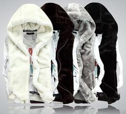 Wholesale White Waistcoat Women - Wholesale-XXXL New2015 Fashion Winter Faux Mink Fur Leather Vest Men Women Couple Sleeveless Waistcoat Vest Sport Casual Hood Jacket D1353
