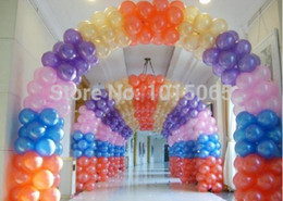 Pearl Ballons Canada - Wholesale-BL0203 500pieces lot 10inch pearl balloons Party Decoration Birthday Balloons Latex arch for decoration globos ballons classic