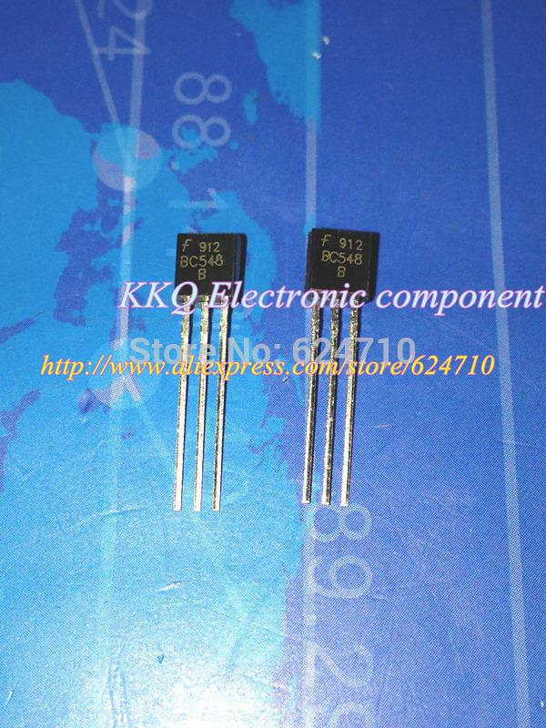 Wholesale-Free shipping 100pcs BC548 BC548B NPN Transistor TO-92 100mA 30V  Triode Transistor sold by bag