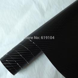 Wholesale Air Free Vinyl Wrap - Wholesale-Free-shipping!! 1.52X0.6m Air free bubbles black 4D auto carbon vinyl carbon wrapping film car color change carbon fiber