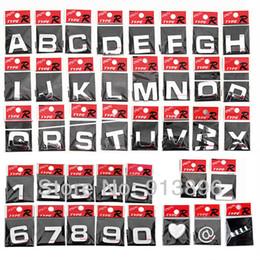Wholesale Chrome Letter Decals - Wholesale-Free Shipping 10pcs letter 3D sticker auto Chrome Badge letter Decal number Emblem DIY decoration alphabet brand Car logo