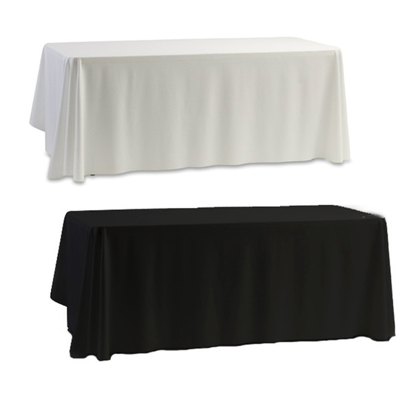 top popular Wholesale-Tablecloth Table Cover White & Black for Banquet Wedding Party Decor 145x145cm 2020