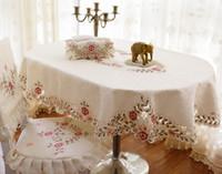 mesa de jantar cadeiras pano venda por atacado-Atacado-moda elíptica toalha de mesa oval mesa de jantar cadeira de pano capa cadeira cobre oval forma toalha de mesa tecido de mesa