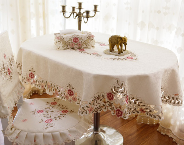 best selling Wholesale-fashion elliptical table cloth oval dining table cloth chair cover chair covers oval shape tablecloth fabric toalha de mesa