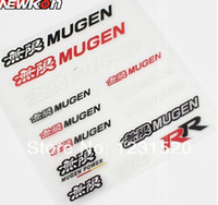 Wholesale Reflector Film - Wholesale- high quality 2015 hot personalized car stickers reflector car styling sport decal emblem fit mugen