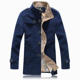 Discount Mens Winter Pea Coats Sale | 2017 Mens Winter Pea Coats ...