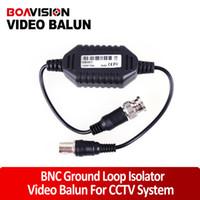 Wholesale Bnc Video Ground Loop - Wholesale- CCTV Camera Video Balun Ground Loop Isolator Coaxial Cable BNC Balun Connectors
